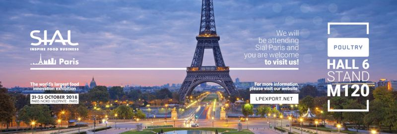 MEET US AT SIAL PARIS ON 21-25 OCTOBER 2018!